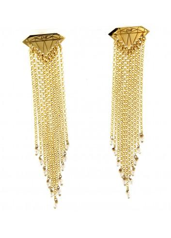 Orecchini lunghi Linea Le Tentazioni in argento 925 con perline