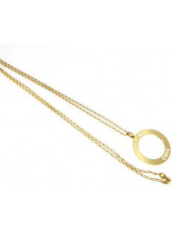 Collana lunga Linea Zarina Chic in ottone con ciondolo piccolo