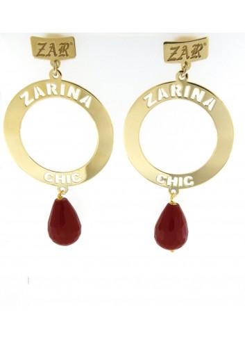 Orecchini Linea Zarina Chic con pendente grande e pietre naturali