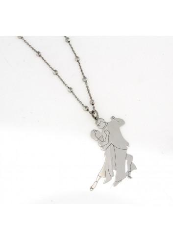 Collana 90 cm con Ballo Piccolo in argento 925