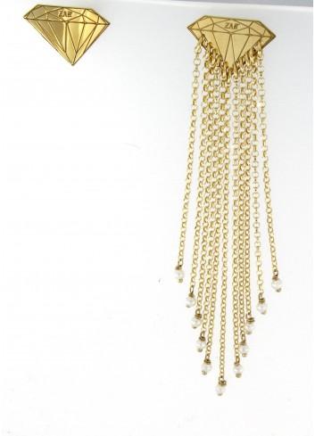 Orecchini asimmetrici Linea Le Tentazioni in argento 925 con perline