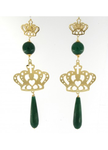 Orecchini Linea Queen con corona