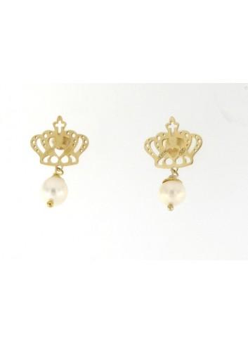 Orecchini Linea Queen con perla