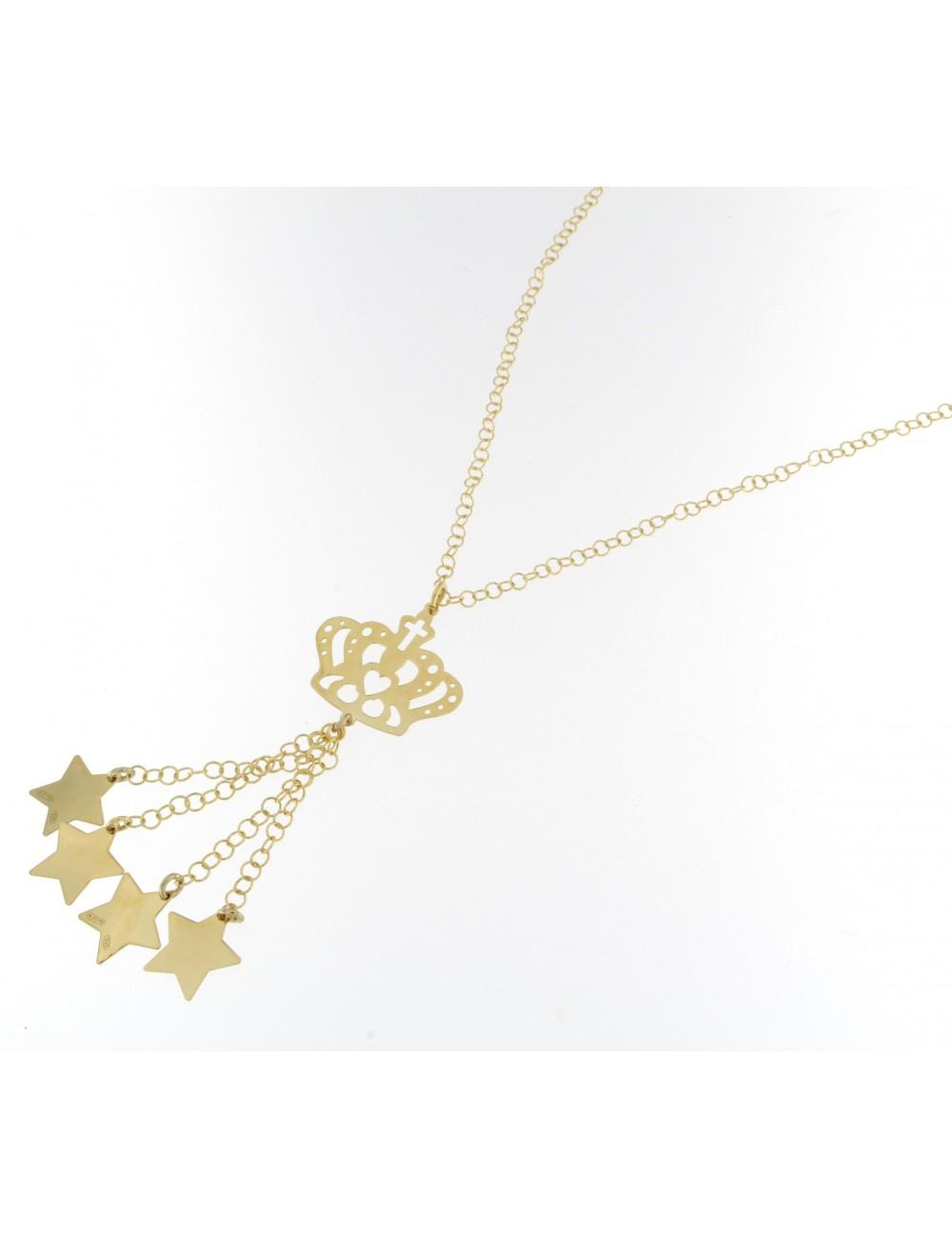 pretty nice 8ddf4 f885a Collana lunga Linea Queen con corona e stelle